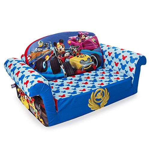 514DAcz8dgL - Marshmallow Furniture - Children's 2 in 1 Flip Open Foam Sofa, Disney Mickey Mouse Roadsters Flip Open Sofa