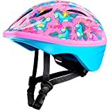 OutdoorMaster Toddler Bike Helmet - Multi-sport Adjustable Helmet for Children (Age 3-5) , 14 Vents Safety & Fun Print Design for Kids Skating Cycling Scooter - Unicorn