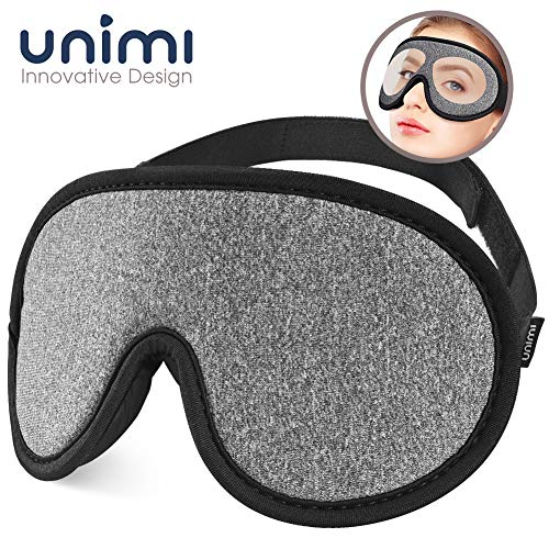 Sleep Mask,Unimi Eye Mask for Sleeping 3D Breathable Memory Foam Contoured Modular Nap/Travel/Shift Work Sleeping Mask,100% Lights Blockout Sleep Mask for Men Women, Soft Comfort Eye Shade Cover