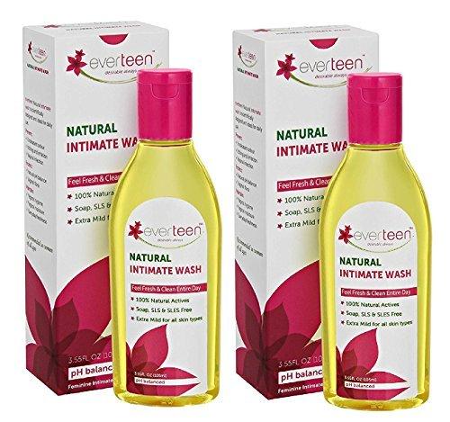Everteen Natural Intimate Feminine Wash 105ml (Pack of 2)