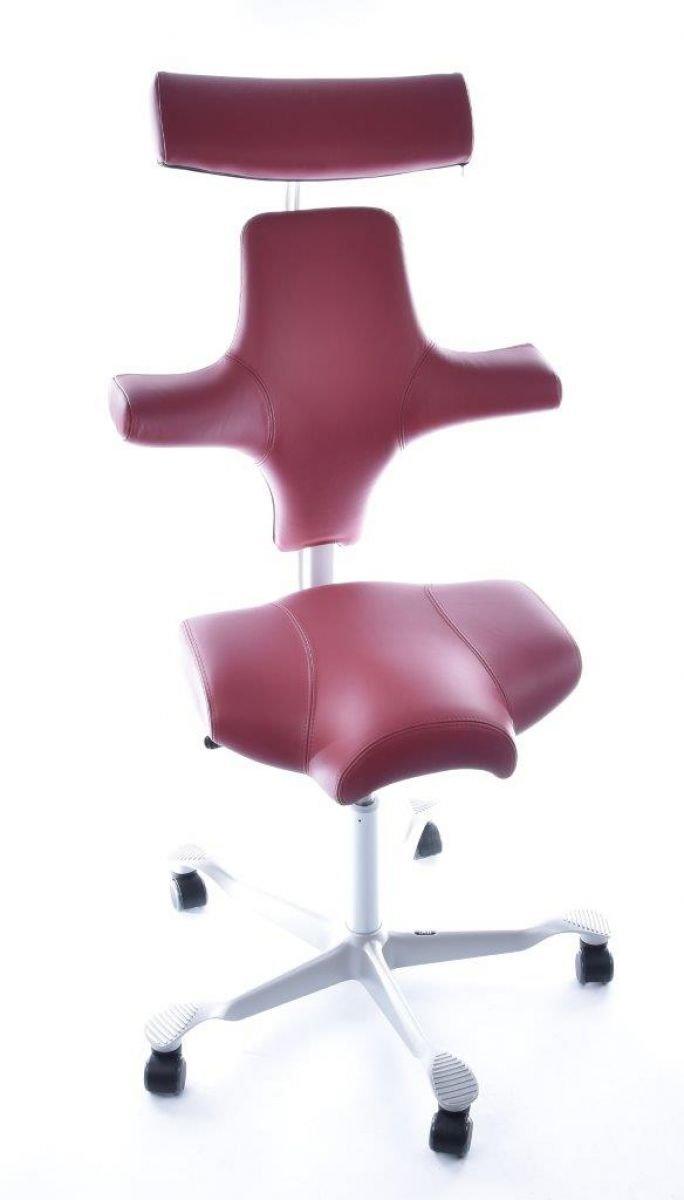 HAG Capisco Modell 8107 Leder Rot Bürostuhl Sattelsitz