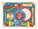 Baby : Melissa & Doug Band-in-a-Box Clap! Clang! Tap! - 10-Piece Musical Instrument Set