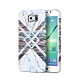 White Pink Marble With Brown Marble Stone Samsung Galaxy S6 Plastic Phone Protective Case Cover
