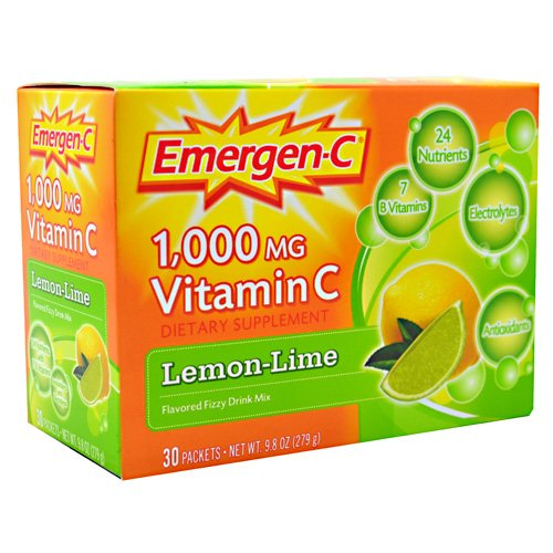 (Emergen-C Health and Energy Booster Lemon-Lime .33 oz 30 Count)