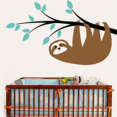 - Emeas Vinyl Wall Sticker Mural Bible Letter Quotes Sloth Catch The Branch Kids Room Nursery Animals Print Jungle Nursery