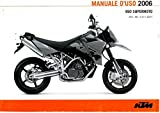 321182IT 2006 KTM 950 Supermoto Motorcycle Owners Manual Paper In Italian