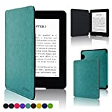 ACdream Kindle Voyage Case, the Thinnest and Lightest Premium PU Leather Cover Case for Kindle Voyage (2014) with Auto Wake Sleep Feature, Sky Blue