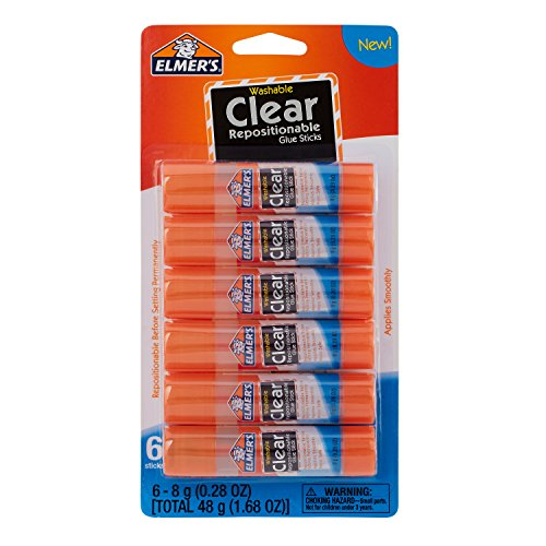 Elmer's Clear Glue Stick (E4061) (0.24 Ounce Repositionable Stick)