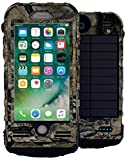 SnowLizard SLXtreme iPhone 8 Case. Solar Powered, Rugged and Waterproof with a built in Battery - Mossy Oak