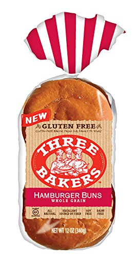 Three Bakers Gluten Free Whole Grain Hamburger Bun 1 Pack - Whole Wheat Hamburger Buns