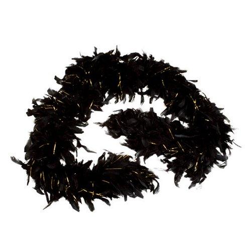 (Rhode Island Novelty 6' Tinsel Boa, Black and)