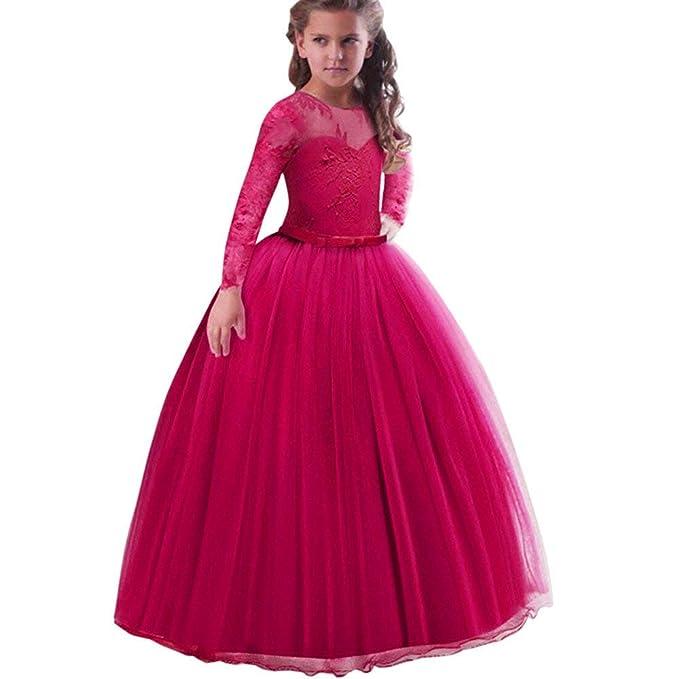 4c5938407 POLP Niña Vestidos de Princesa Fiesta de la Boda de Las Niñas Bordado Baile de  graduación Vestido ...