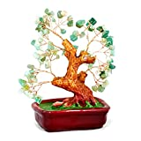 Bonsai Gemstone Tree of Happiness with Green Jade Gemstones 29134
