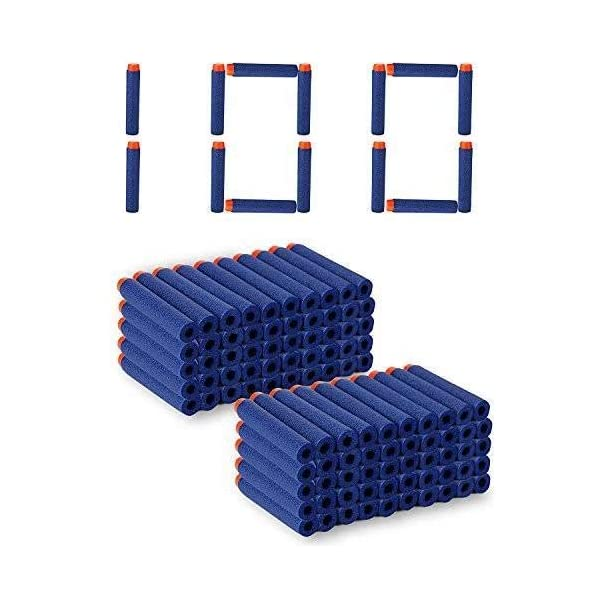 yijun Foam Toy Bullet Dart Bullets for Nerf N-Strike Elite Guns, 100-Pieces, Blue
