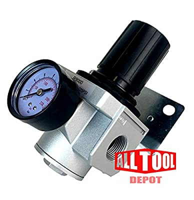 """1"""" Heavy Duty High Flow In-line Compressed Air Pressure Regulator 180 Cfm from ALL Tool Depot"""
