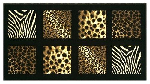 Animal Prints Door Black Design