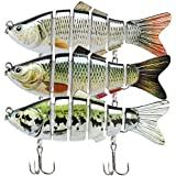 "TRUSCEND Fishing Lures for Bass Trout 2~4"" Segmented Multi Jointed Swimbaits Slow Sinking Swimming Lures Freshwater Saltwater Bass Fishing Lures Kit Lifelike"