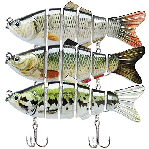 "TRUSCEND Fishing Lures for Bass 3.9"" Multi Jointed Swimbaits Slow"