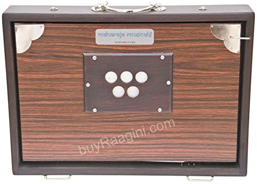 Shruti Box – Caja de caudales Maharaja Musicals, pequeña, 33 x 24 x 7,62 cm, con bolsa, color madera rosa, 13 notas,...