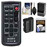 Sony RMT-DSLR2 Wireless Remote Shutter Controller with NP-FM500H Battery & Charger + Cleaning & Accessory Kit for Alpha A33, A55, A57, A65, A77, A99, NEX-5/5N/5R, NEX-6, NEX-7 Cameras