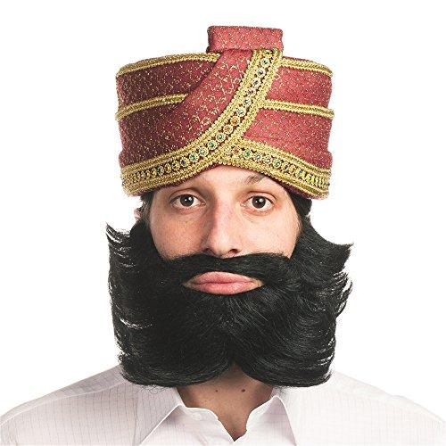[Guru Guy Mustache & Beard] (Turban And Beard Costume)