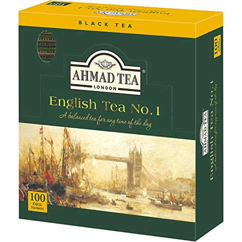 Ahmad Tea English Tea No.1 Enveloped Teabag, 100 Count