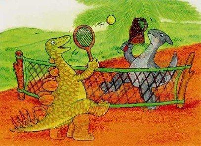 3d Lenticular postcard-tennis Dino B000ARHIGM