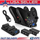 Phantomx New Dual Charger Dock+2 Rechargeable Battery Packs For Xbox One Controller BC493