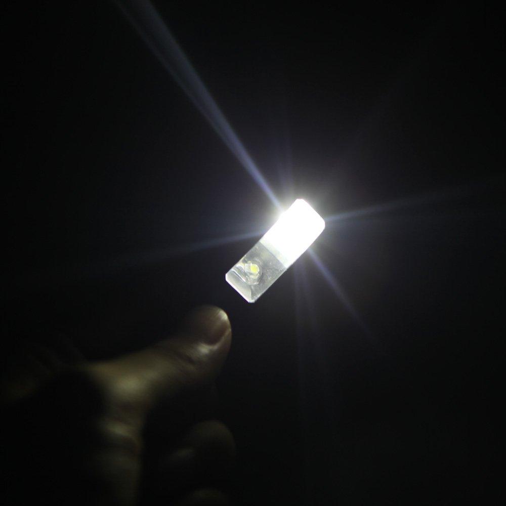 ammoon Lichtleuchte mit 2 Doppelarmclips 4 flexible LED f/ür B/ücher und Notenst/änder schwarz