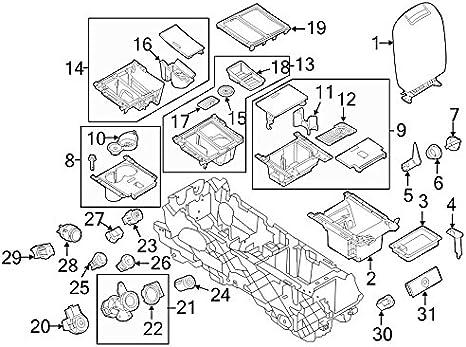Genuine Hyundai 84622-33000-DT Center Console Bracket Assembly Rear