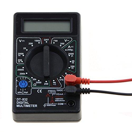 ADSRO Professional Mini Digital LCD Voltmeter AC/DC Ammeter Ohm Tester Multimeter Buzzer DT-832 with Diode Assembly Resistance Transistor Test Transistor Test