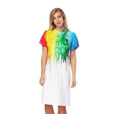 c3e2b3d0a5cf ZKOOO Femme Robe a Manches Courtes Robe de Crayon Tunique Jupon Genou  Longueur T-Shirt