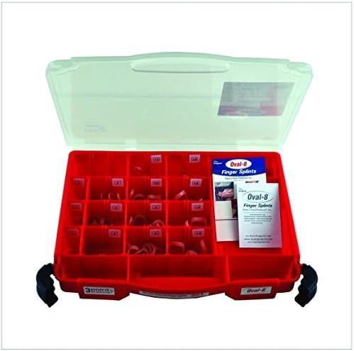 Oval 8 | Finger Splint | Finger Schiene | Grosses Set | 44 Oval 8® Finger Splints mit verschiedenen Größen in einem praktischen Aufbewahrungskoffer