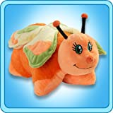 "Pillow Pets Authentic 18"" Orange Butterfly, Folding Flush Pillow- Large"