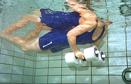 TheraBand Aquatic Hand Bar Dumbbell Weight with Padded Grip