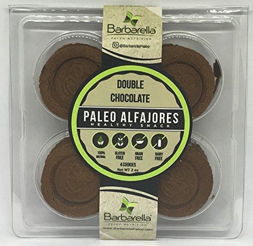 Paleo Double Chocolate Alfajores, 4 Cookies (Pack of 4). 16 Alfajores in total