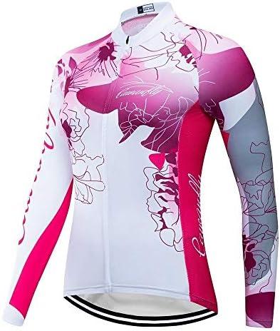 アウトドアレディース長袖のズボンのサイクリング自転車の服の私服