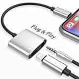 Headphone Jack Adapter for iPhone Adapter Earphone Audio Splitter and Charge Connector for iPhone X/7/7 Plus /8/8 Plus Support to Listen Music and Charge Replacement for iOS 11.4 System -Black