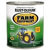 Rust-Oleum 7449502 Specialty Farm Equipment Enamel, Yellow Caterpillar, 1-Quart