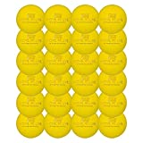 24 Laser Engraved Logo Lacrosse Balls for Your Business, Event, or Team (Yellow)
