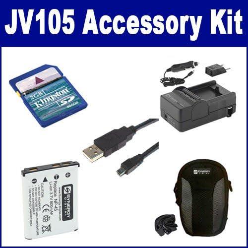 KSD2GB Memory Card SDM-141 Charger Fujifilm Finepix JV105 Digital Camera Accessory Kit Includes: SDNP45 Battery SDC-21 Case USB8PIN USB Cable