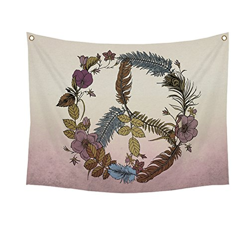 Stratton Home Decor S07751 Botanical Peace Wall Tapestry, Multicolor