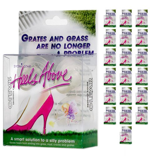20 Boxes Heels Above Stiletto High Heel Protectors- CLEAR by Heels Above