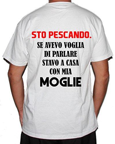 Voglia Bubbleshirt Moglie Fishing Bianco Cotone Pesca Mia Stavo Humor Con Sto A In Pescando Se Casa Di Tshirt Divertente Uomo Avevo Pescare ZrqRwrB0x
