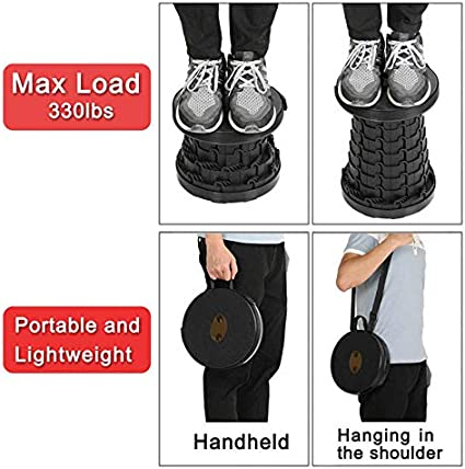 Outdoor Portable Adjustable Folding Stool for Hiking Camping Fishing Max Load 130KG//330lbs Mini Retractable Stool