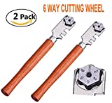 Professional Grade Glass Cutter Tool - 6 Steel Wheels Perfect for Cutting