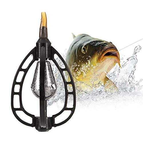 (Matoen Fishing Feeder Bait Lure Trap Cage Case Fishing Inline Method Feeder Basket Holder Coarse Terminal Tackle Accessory (C))