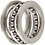 NSK 51107 Thrust Bearing, Single Row, 3 Piece, Grooved Race, Pressed Steel Cage, Metric, 35mm Bore, 52mm OD, 12mm Width, 4000rpm Maximum Rotational Speed, 49500N Static Load Capacity, 22100N Dynamic Load Capacity