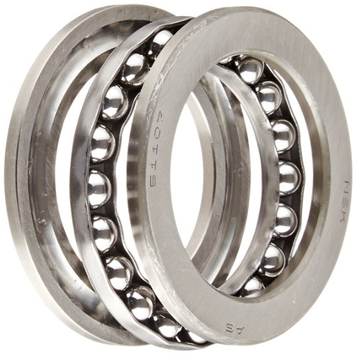 - NSK 51107 Thrust Bearing, Single Row, 3 Piece, Grooved Race, Pressed Steel Cage, Metric, 35mm Bore, 52mm OD, 12mm Width, 4000rpm Maximum Rotational Speed, 49500N Static Load Capacity, 22100N Dynamic Load Capacity