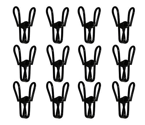 Yansanido Pack of 30 Black Utility Clips 2